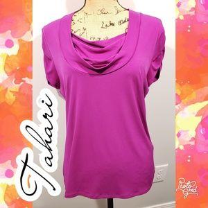 Tahari large dress work top blouse